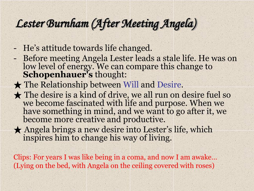 Lester Burnham (After Meeting Angela)