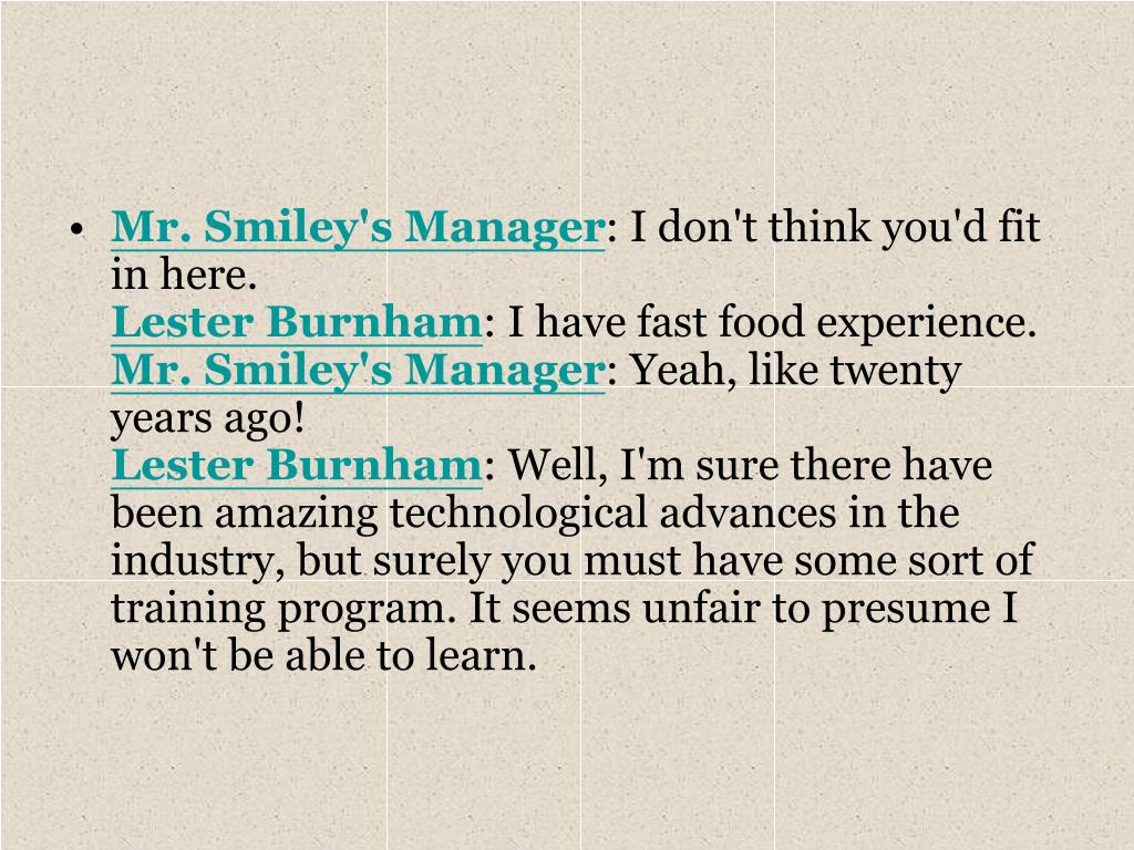 Mr. Smiley's Manager