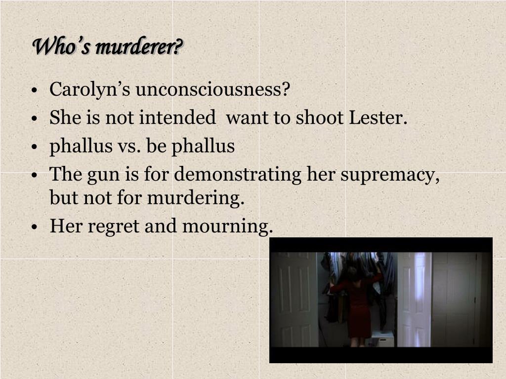 Who's murderer?
