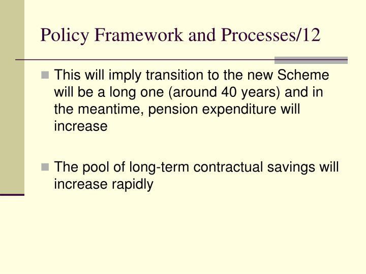 Policy Framework and Processes/12