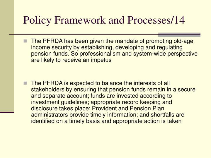 Policy Framework and Processes/14