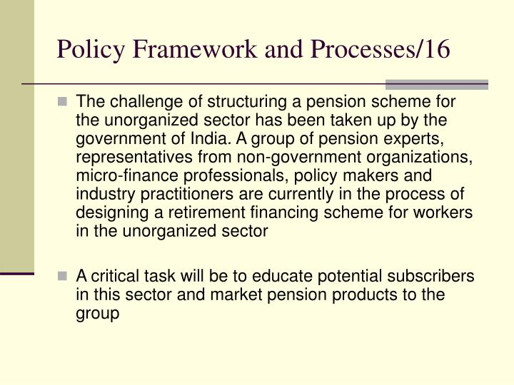 Policy Framework and Processes/16