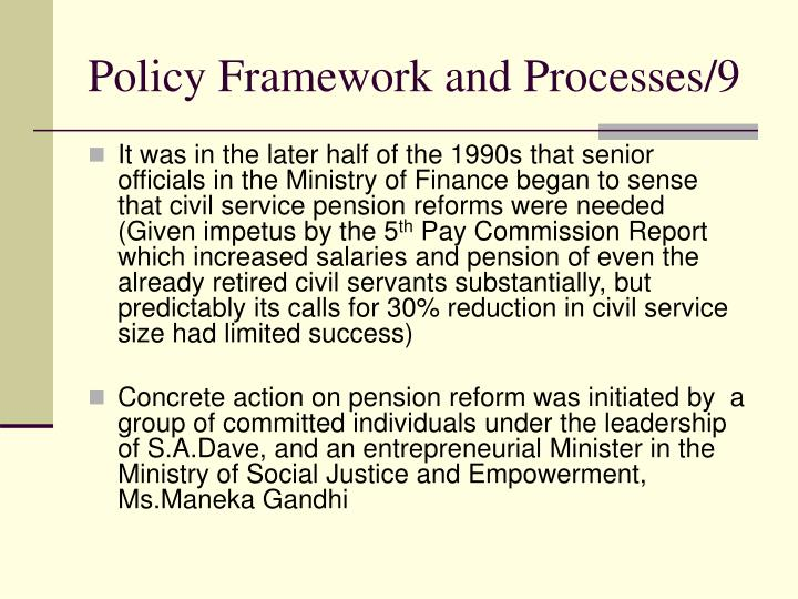 Policy Framework and Processes/9