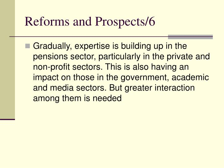 Reforms and Prospects/6