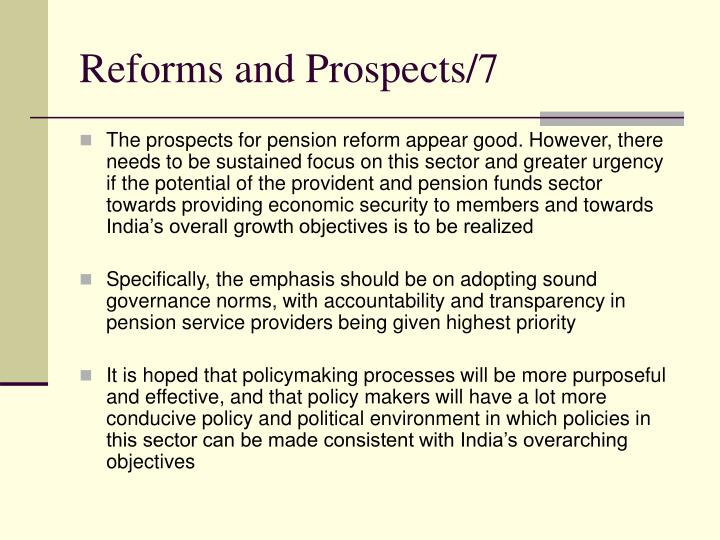 Reforms and Prospects/7