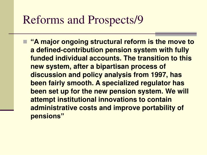 Reforms and Prospects/9