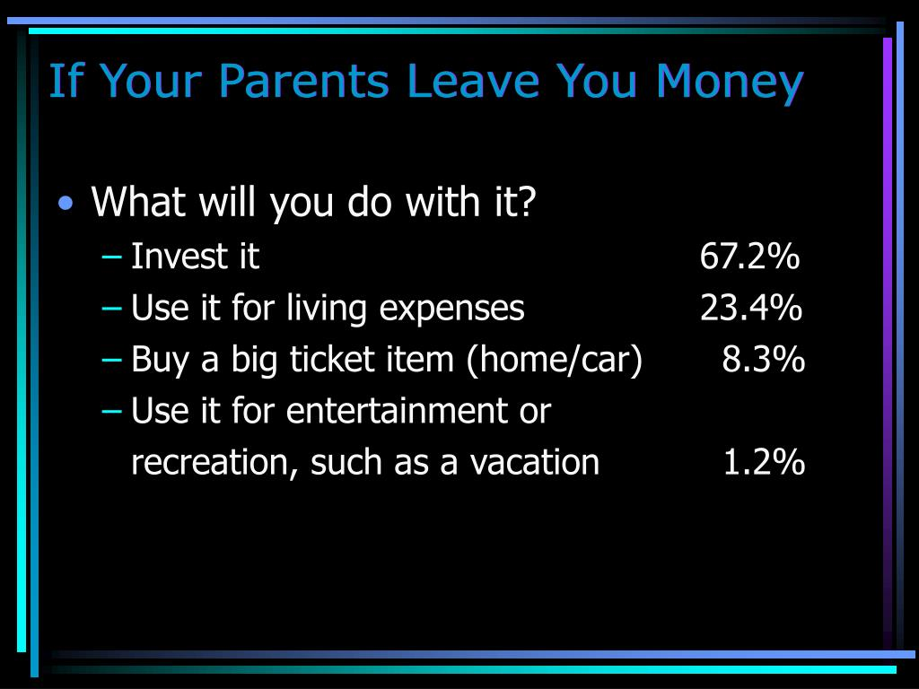 If Your Parents Leave You Money
