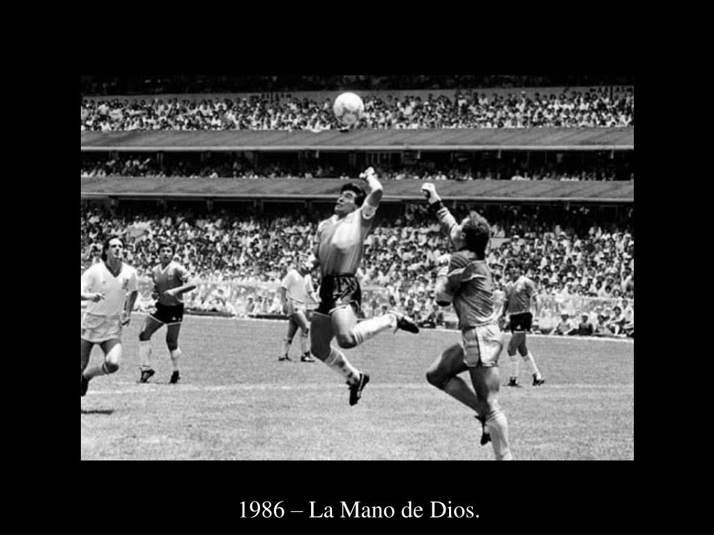 1986 – La Mano de Dios.