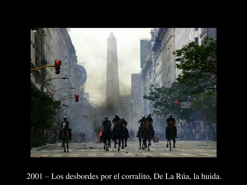 2001 – Los desbordes por el corralito, De La Rúa, la huida.