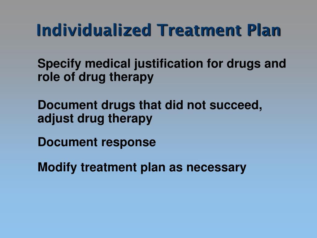 Individualized Treatment Plan