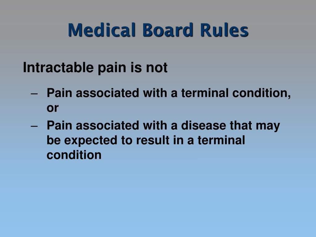 Medical Board Rules