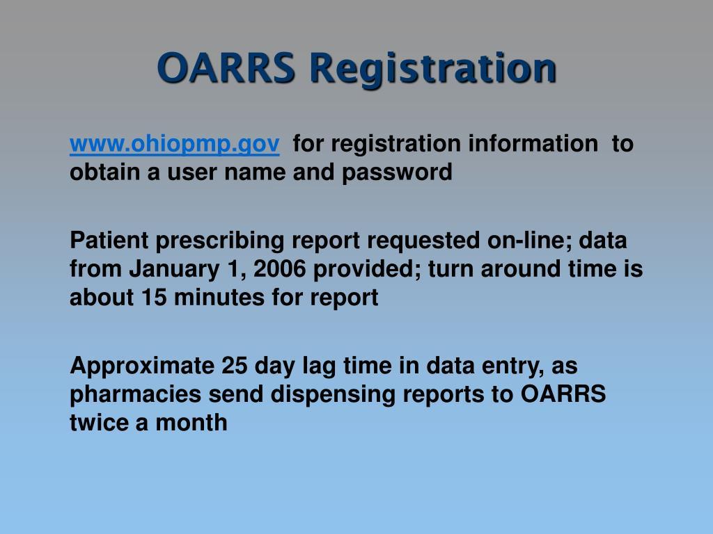 OARRS Registration