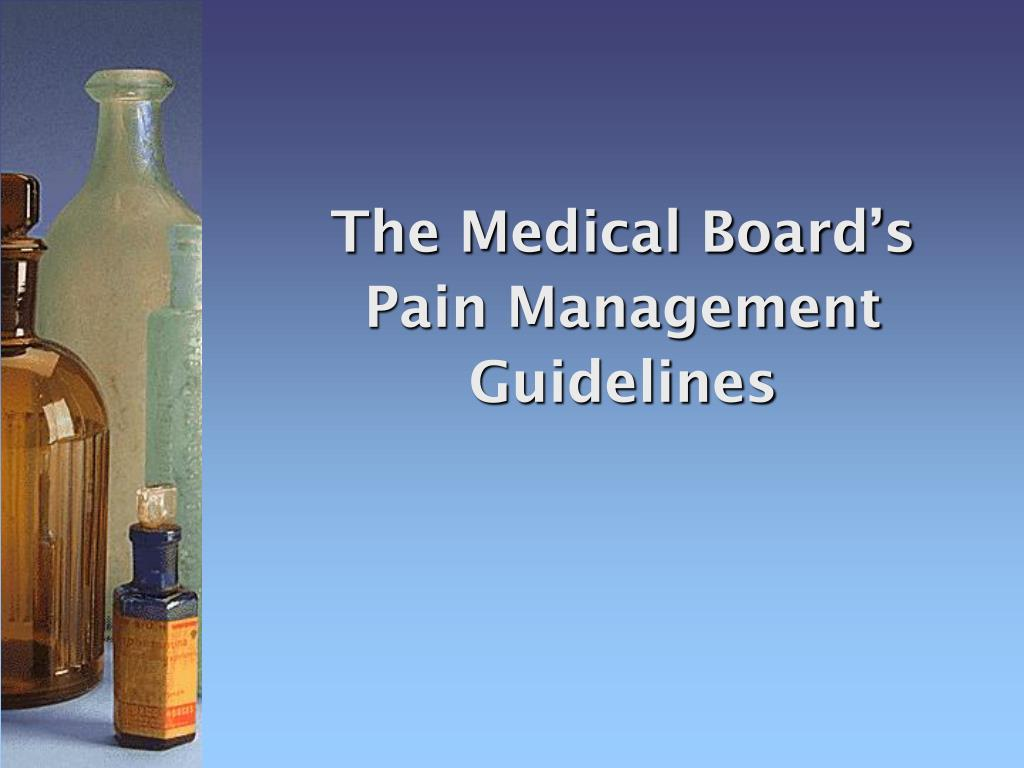 The Medical Board's