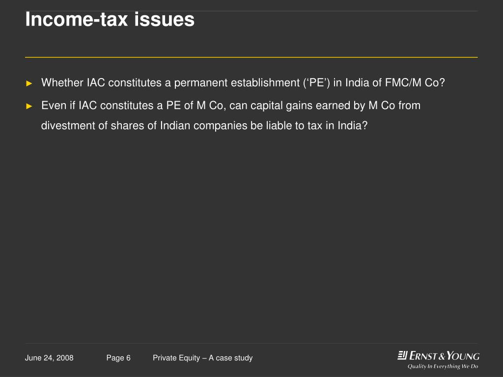 Income-tax issues
