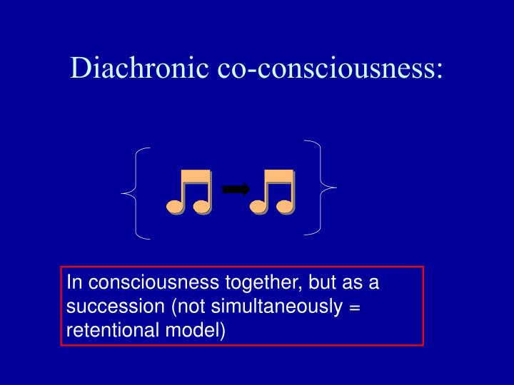 Diachronic co-consciousness: