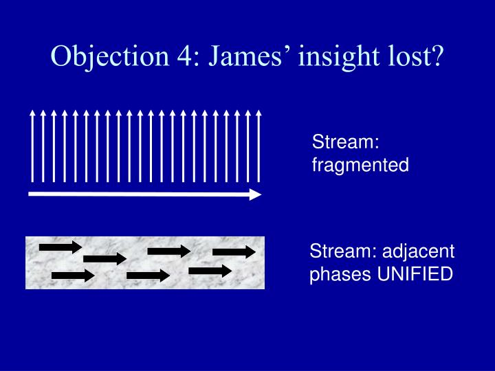 Objection 4: James' insight lost?