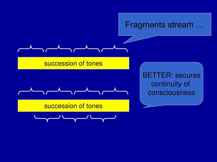 Fragments stream …