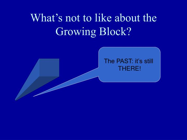 What's not to like about the Growing Block?