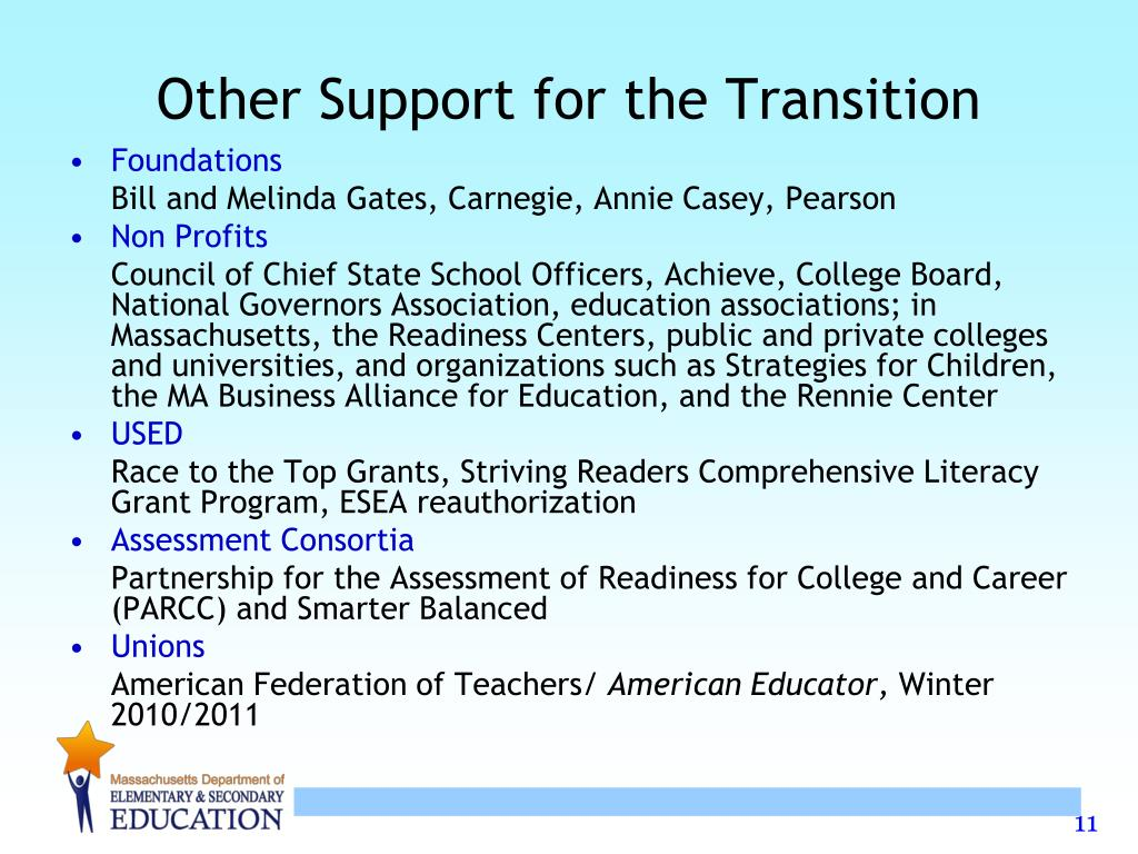 Other Support for the Transition