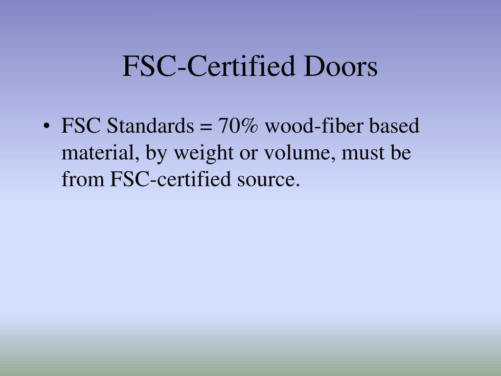 FSC-Certified Doors