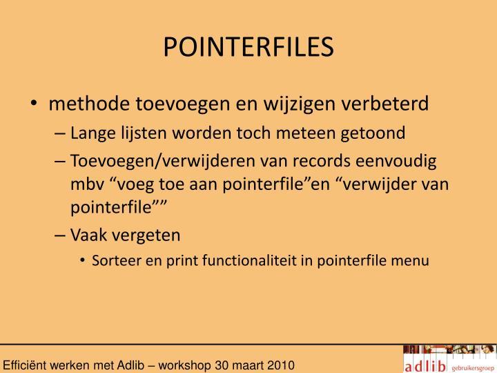 POINTERFILES