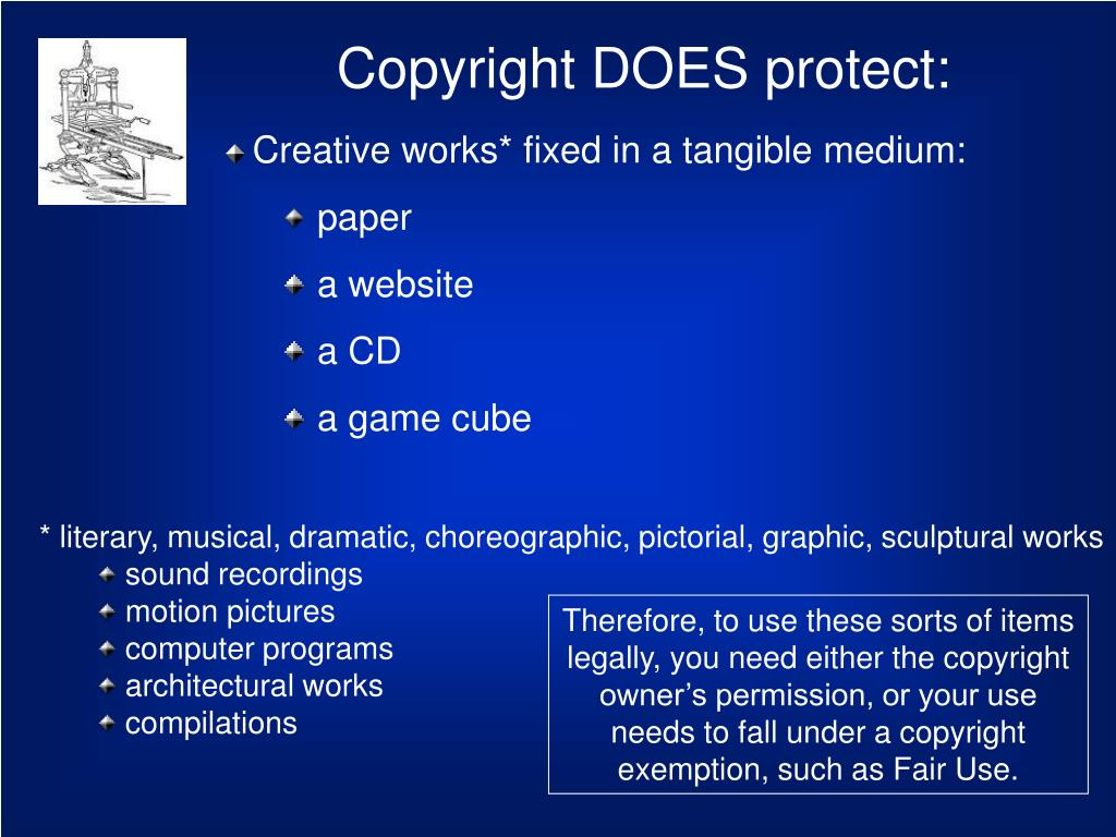 Copyright DOES protect: