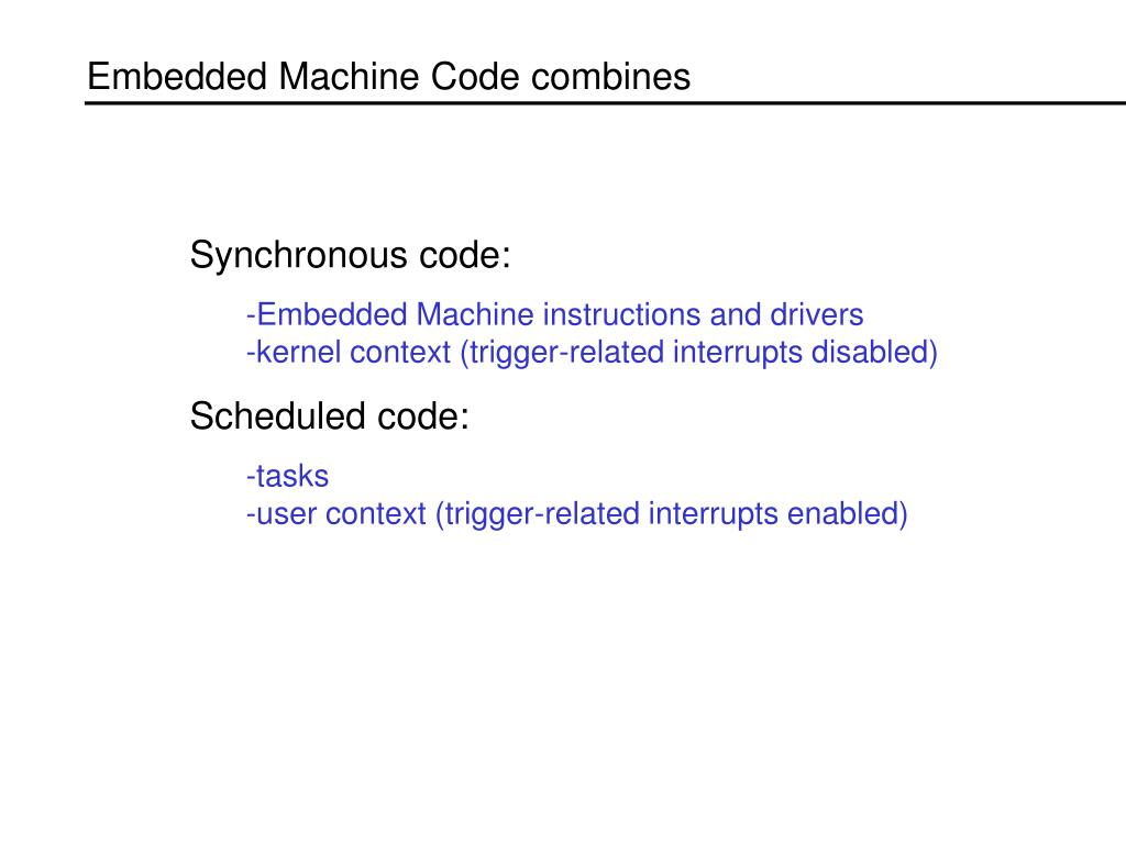 Embedded Machine Code combines