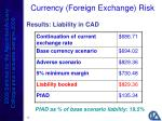 currency foreign exchange risk23