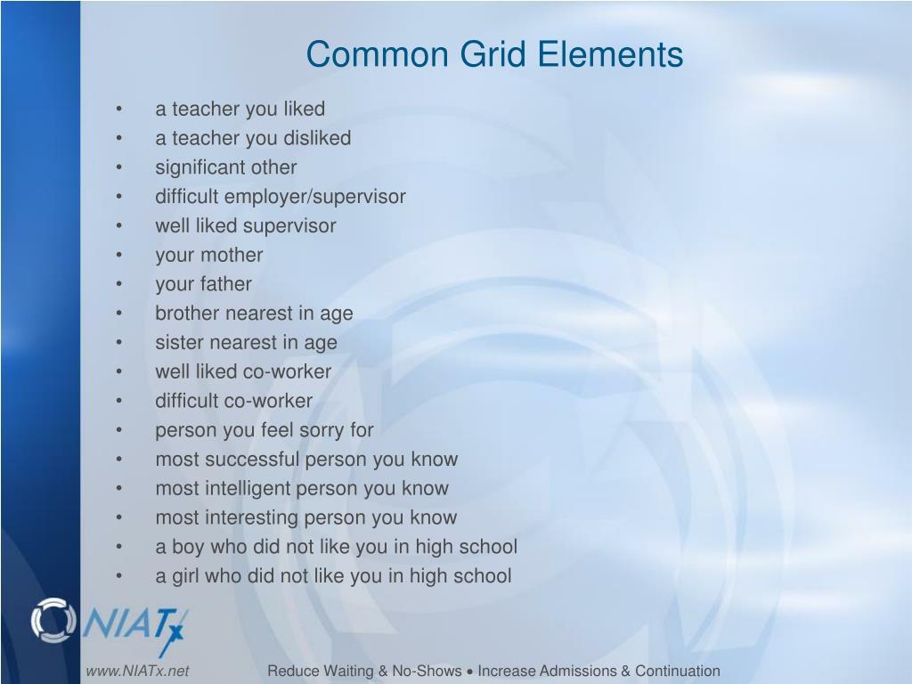 Common Grid Elements