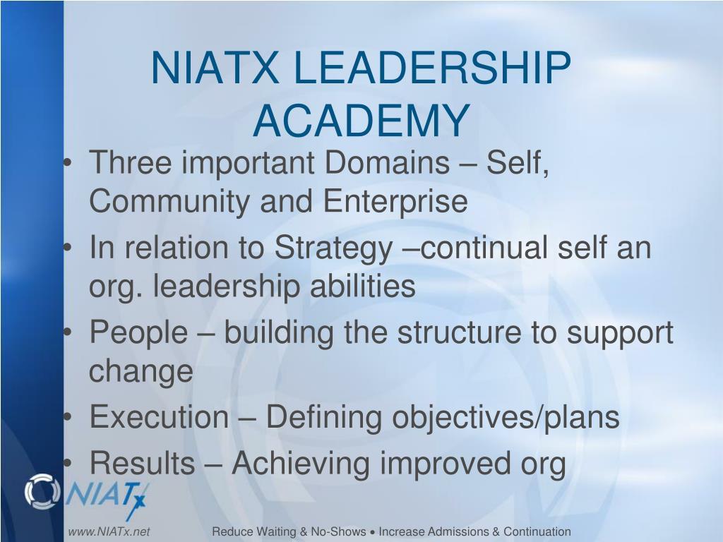 NIATX LEADERSHIP ACADEMY