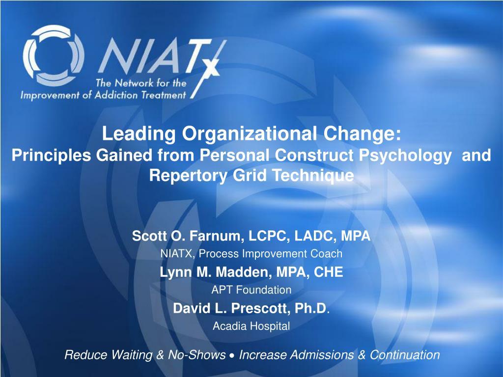 Leading Organizational Change: