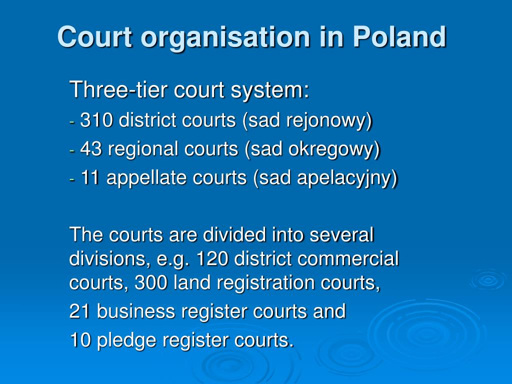 Court organisation in Poland