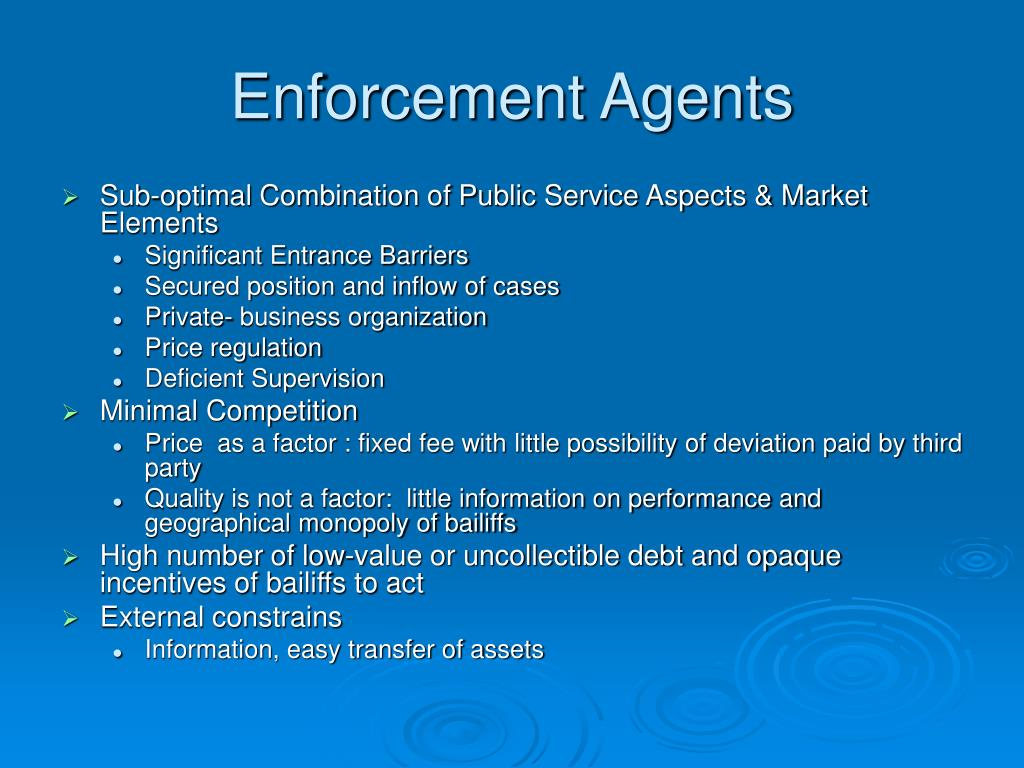 Enforcement Agents