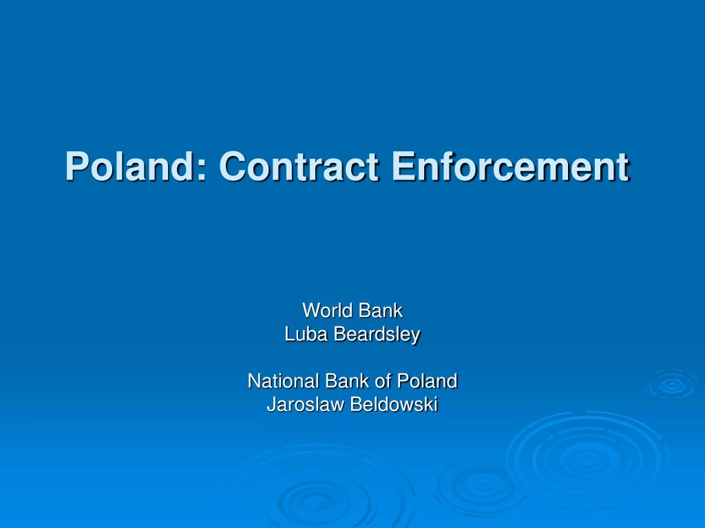 Poland: Contract Enforcement