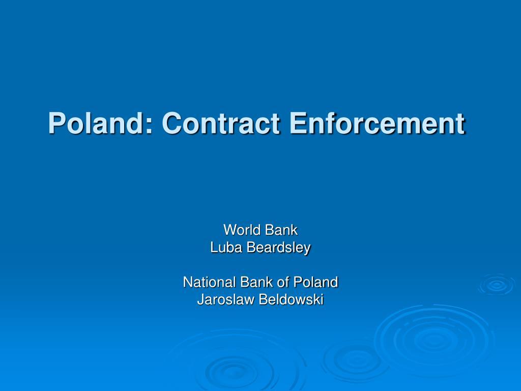 poland contract enforcement