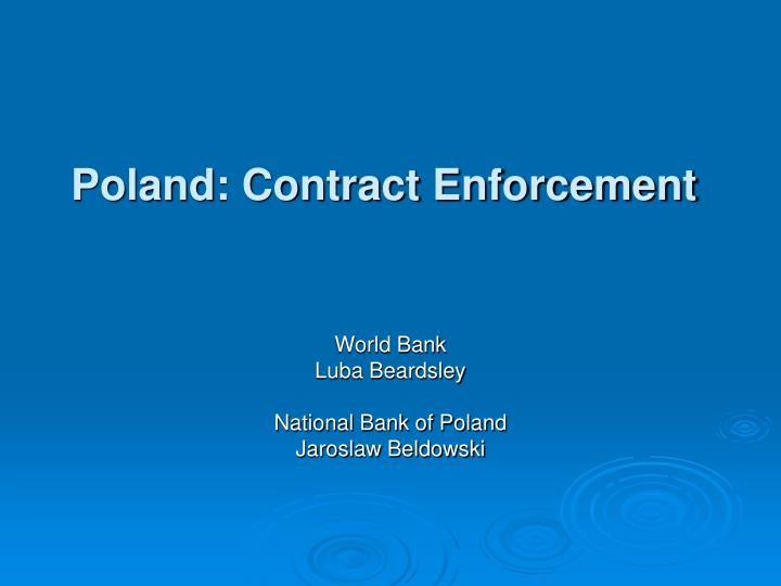 Poland contract enforcement