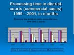 processing time in district courts commercial cases 1999 2004 in months