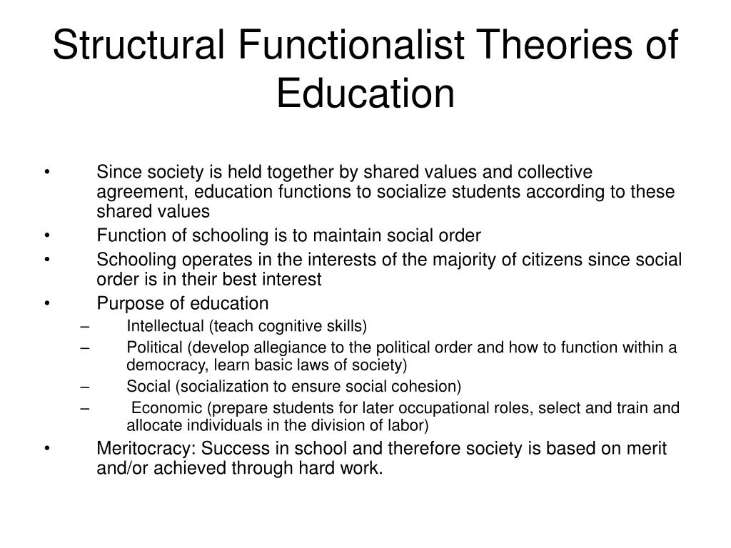 a study on social stratification and the structural functionalist theorist