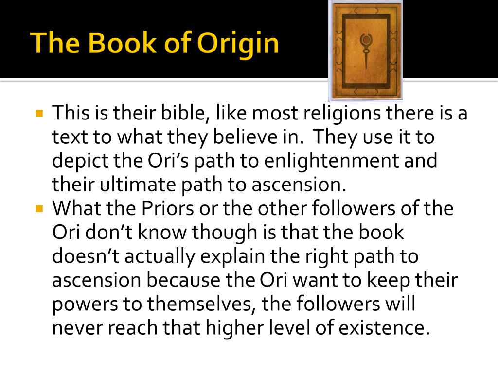 The Book of Origin