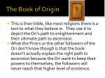 the book of origin