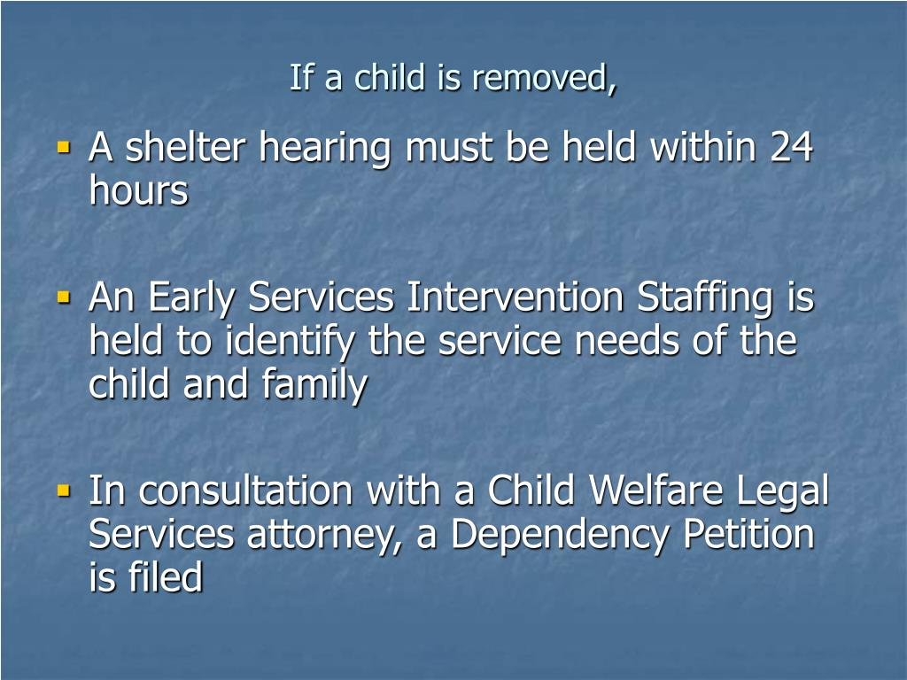 If a child is removed,