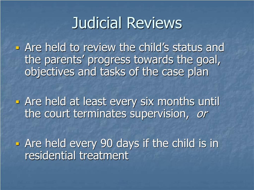 Judicial Reviews