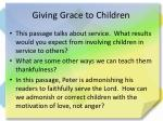 giving grace to children