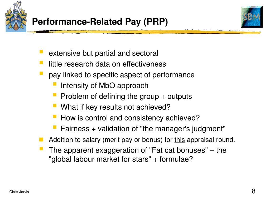 Performance-Related Pay (PRP)