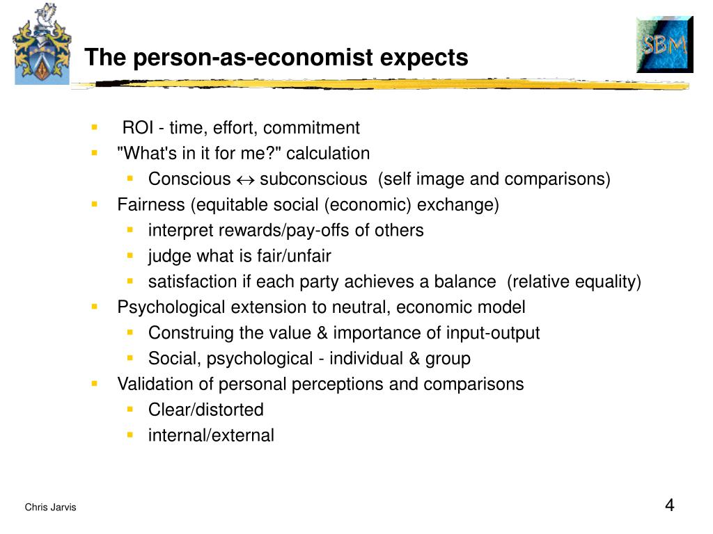 The person-as-economist expects