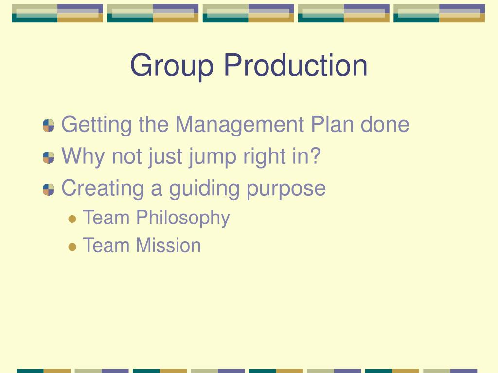 Group Production