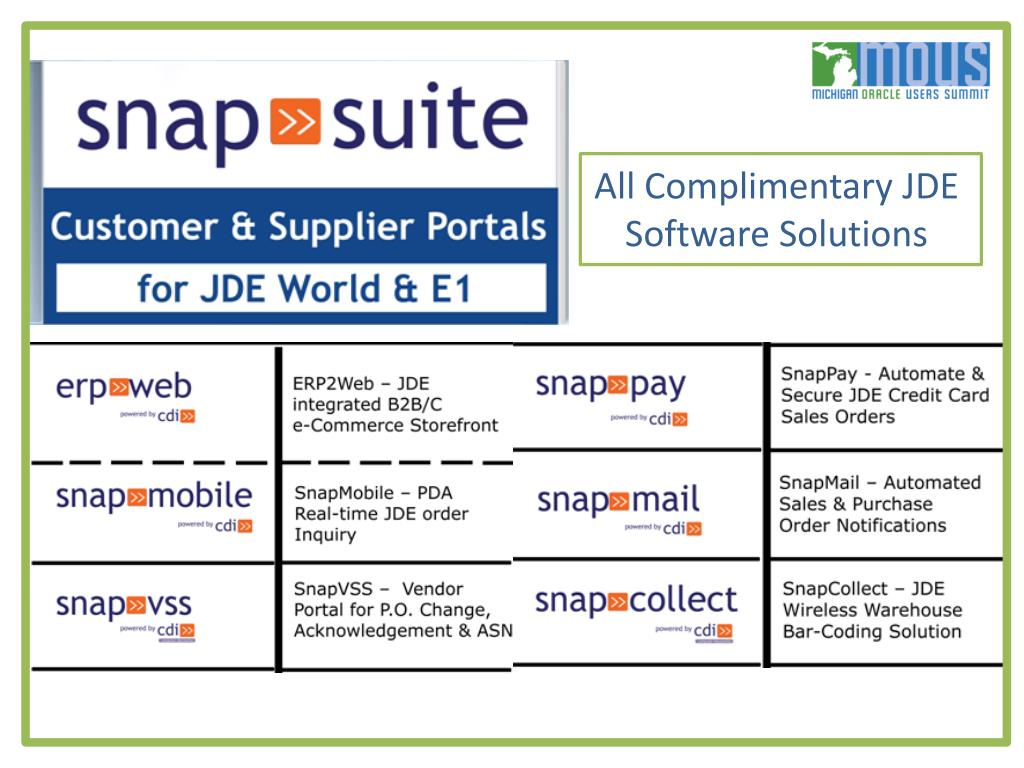 All Complimentary JDE Software Solutions