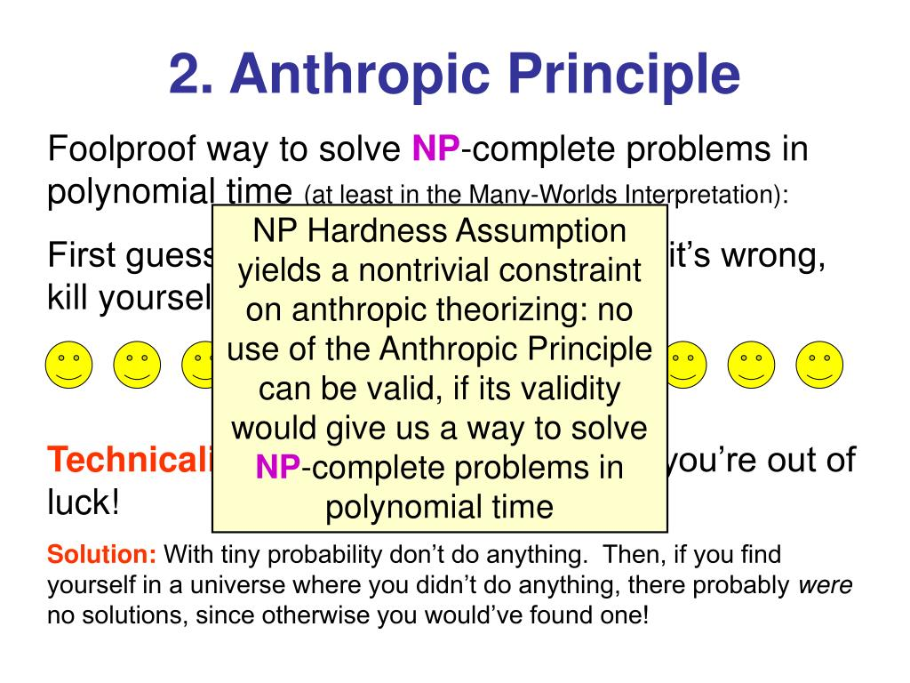 2. Anthropic Principle