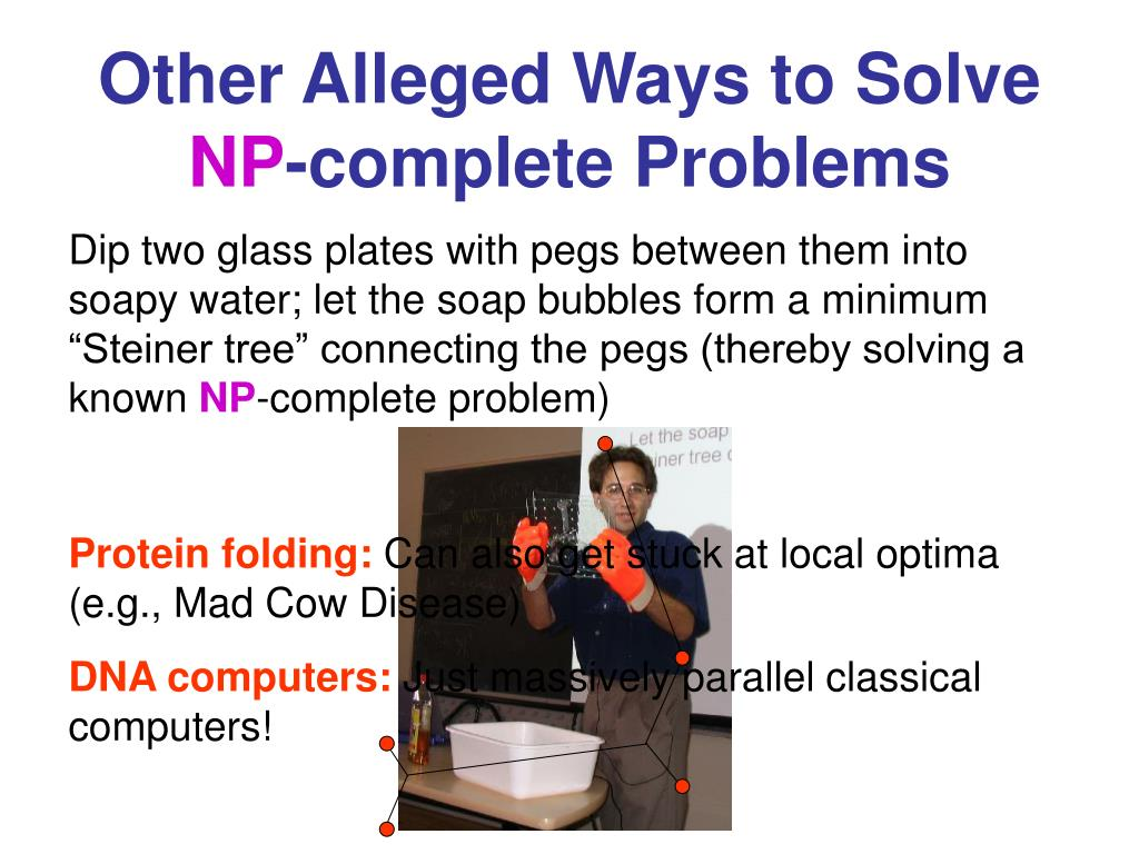 Other Alleged Ways to Solve