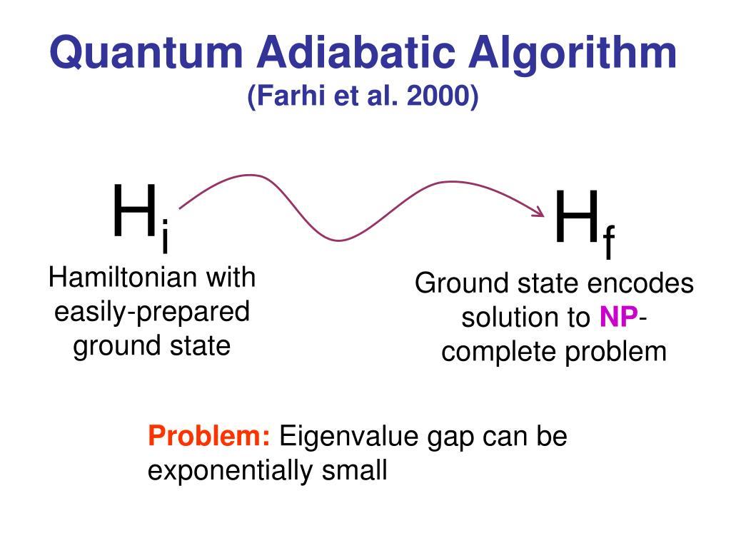 Quantum Adiabatic Algorithm